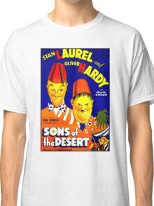LAUREL & HARDY; Vintage Sons of the Desert Print Classic T-Shirt
