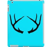 Deer Antlers Buck Black iPad Case/Skin