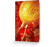 Christmas decoration with gold baubles Greeting Card
