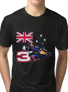 Daniel Ricciardo F1 driver with Australian flag Tri-blend T-Shirt