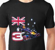 Daniel Ricciardo F1 driver with Australian flag Unisex T-Shirt