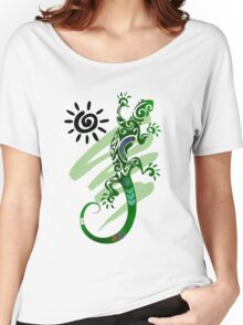 Green Gecko  Women's Relaxed Fit T-Shirt