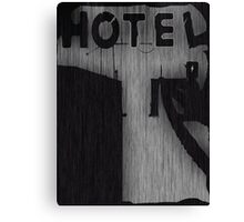 Hotel Silhouette Canvas Print