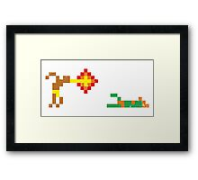 Street Fighter - Dhalsim vs Blanka Framed Print