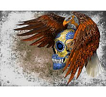 indian native eagle sugar Skull Photographic Print