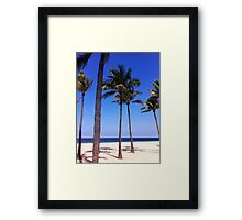 Palm Trees in the Sand Framed Print