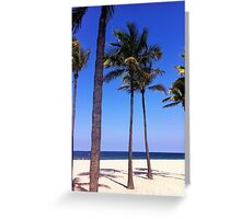 Palm Trees in the Sand Greeting Card