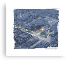Christmas in Concord Canvas Print