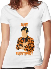 David Pumpkins-SNL Women's Fitted V-Neck T-Shirt