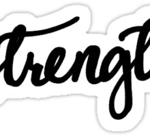 Strength Calligraphy Sticker