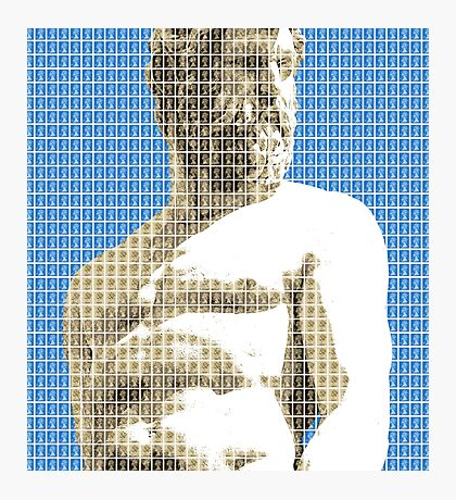 Greek Statue #2 - Blue Photographic Print