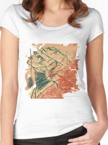Broken Pieces  Women's Fitted Scoop T-Shirt