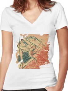 Broken Pieces  Women's Fitted V-Neck T-Shirt