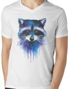 Racoon  Mens V-Neck T-Shirt