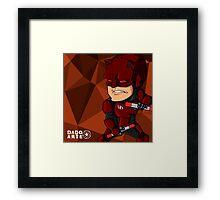 Cartoon Daredevil Framed Print