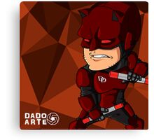 Cartoon Daredevil Canvas Print