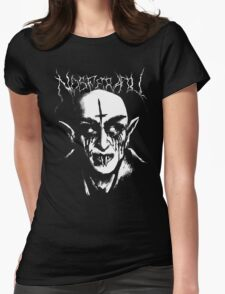 Black Metal Nosferatu Womens Fitted T-Shirt