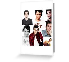 Dylan O'Brien Collage Greeting Card