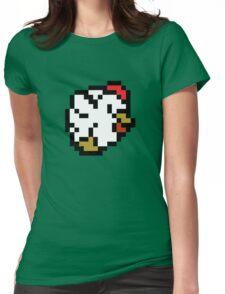 Chicken (8-bit / 16-bit / Pixelated) Womens Fitted T-Shirt