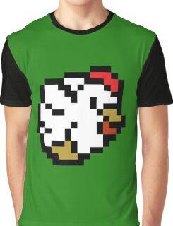 Chicken (8-bit / 16-bit / Pixelated) Graphic T-Shirt
