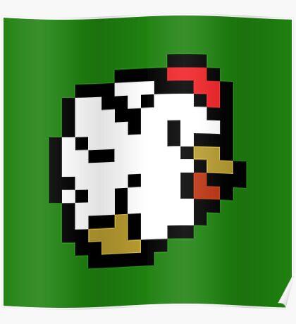 Chicken (8-bit / 16-bit / Pixelated) Poster