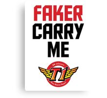 Faker Carry Me Canvas Print
