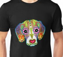Mexican - Beagle Day Of The Dead Sugar Skull Dog Unisex T-Shirt