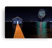 Crawley Edge Boatshed Fireworks  Canvas Print