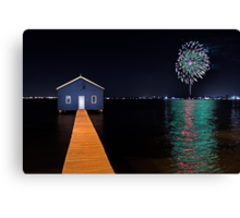 Crawley Edge Boatshed Fireworks  Canvas Print