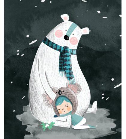Polar Bear Hug Sticker