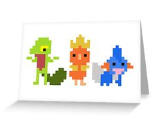 Treecko Torchic and Mudkip Greeting Card