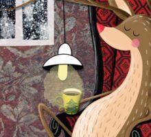 Posh Reindeer Sticker