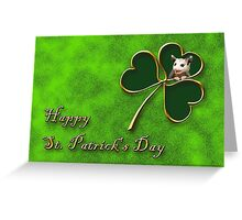 St. Patrick's Day Clover Opossum Greeting Card