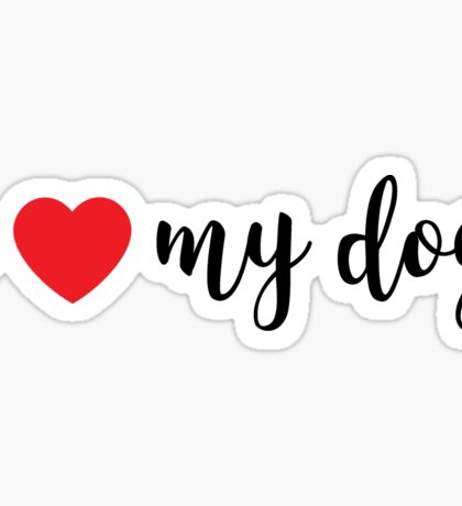 I Heart My Dog Sticker
