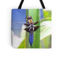 Broad Bodied Chaser Dragonfly Tote Bag