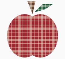 Plaid Apple. T-Shirt