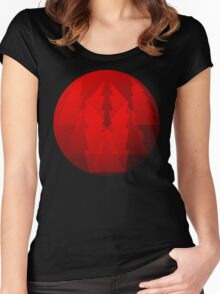 Red Art Cool Women's Fitted Scoop T-Shirt