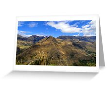 Summit Farms In The Andes Of Ecuador Panorama Greeting Card