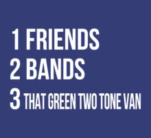 680 SOUTH FRIENDS BANDS GREEN TWO TONE VAN by lucusfocus