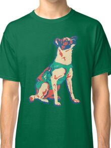 Laika Space Dog Vector Russian Propaganda Pup Retro Old-Timey Vintage Classic T-Shirt