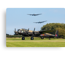 Three Lancasters at East Kirkby Canvas Print