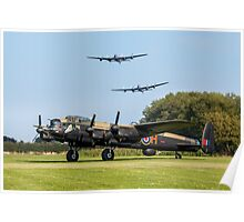 Three Lancasters at East Kirkby Poster