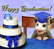 Graduation Opossum by jkartlife