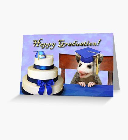 Graduation Opossum Greeting Card