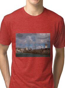 Lighthouse at St Ives England Tri-blend T-Shirt