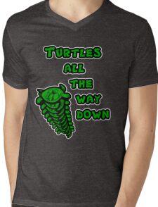 Turtles all the way down Mens V-Neck T-Shirt