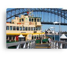 Sydney ferry,harbour bridge and Opera House Australia  Canvas Print