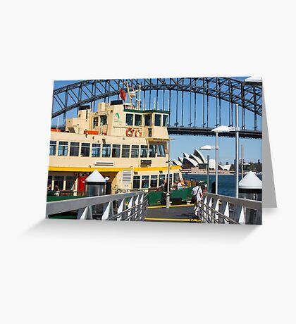 Sydney ferry,harbour bridge and Opera House Australia  Greeting Card