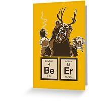 Chemistry bear discovered beer Greeting Card