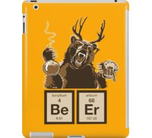 Chemistry bear discovered beer iPad Case/Skin